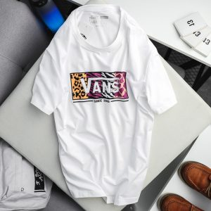 VANS T–SHIRT LABELED - WHITE
